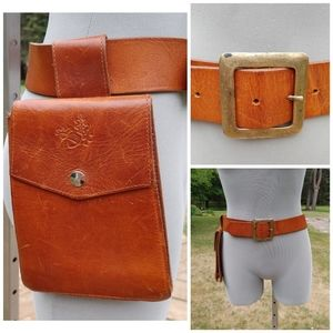 Leather belt bag size small